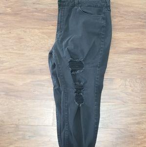 Kancan size 34 faided black skinny Jean's